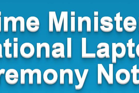 Prime Minister's National Laptop Ceremony Notice