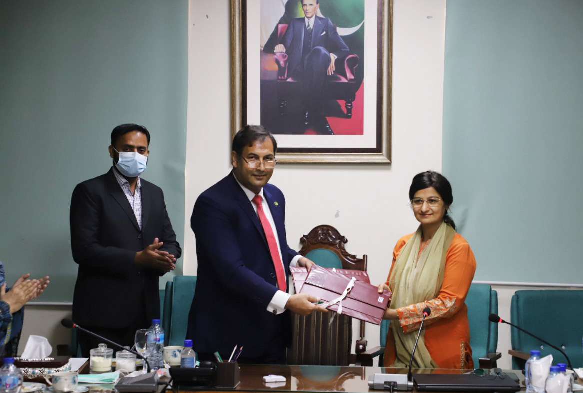 MoU between KFUEIT and Government College Women University Faisalabad (GCWUF)